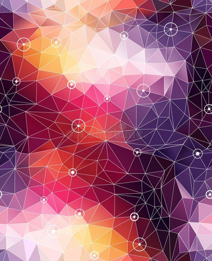Färgrik modellbackgr för sömlös abstrakt triangel royaltyfri foto