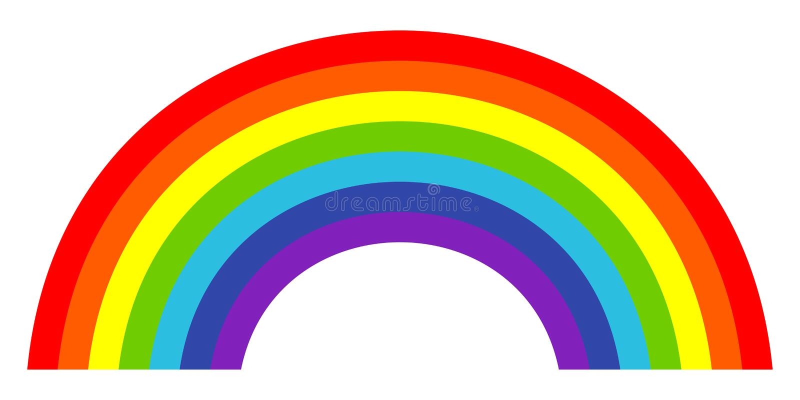 Färgrik moderiktig symbol av regnbågen också vektor för coreldrawillustration stock illustrationer