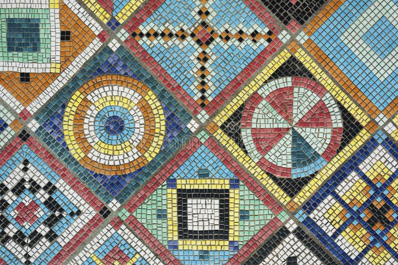 färgrik mosaik royaltyfria bilder