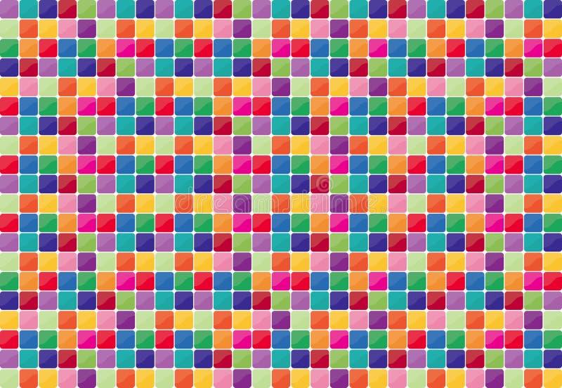färgrik mosaik för bakgrund royaltyfri illustrationer