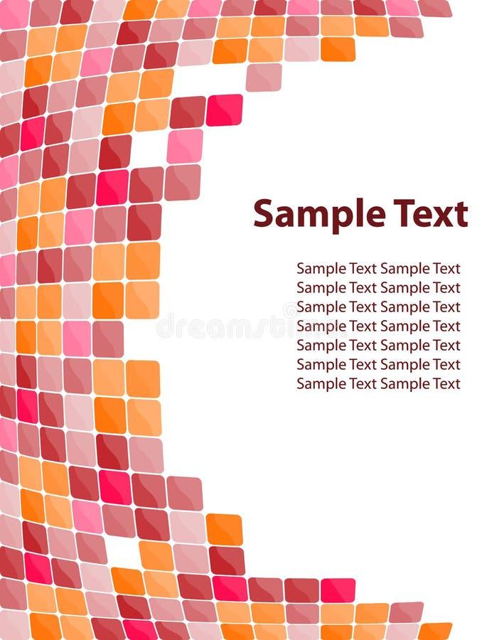 färgrik mosaik för bakgrund stock illustrationer