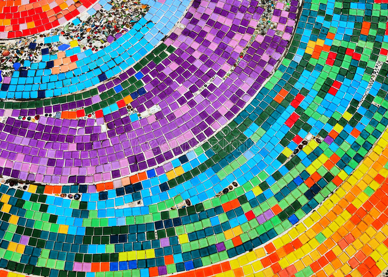 Färgrik mosaikbakgrund arkivfoton