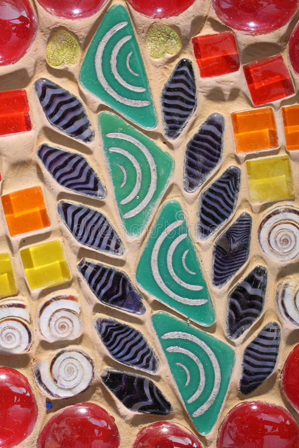 Färgrik mosaikbakgrund arkivbild