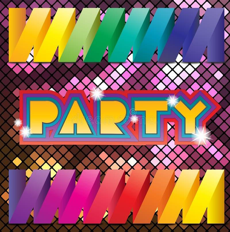 Färgrik mosaikbakgrund för parti royaltyfri illustrationer