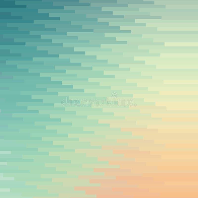 Färgrik mosaikbanerbakgrund stock illustrationer