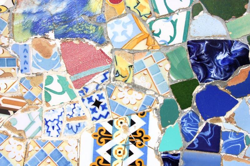 färgrik mosaiktextur arkivfoto