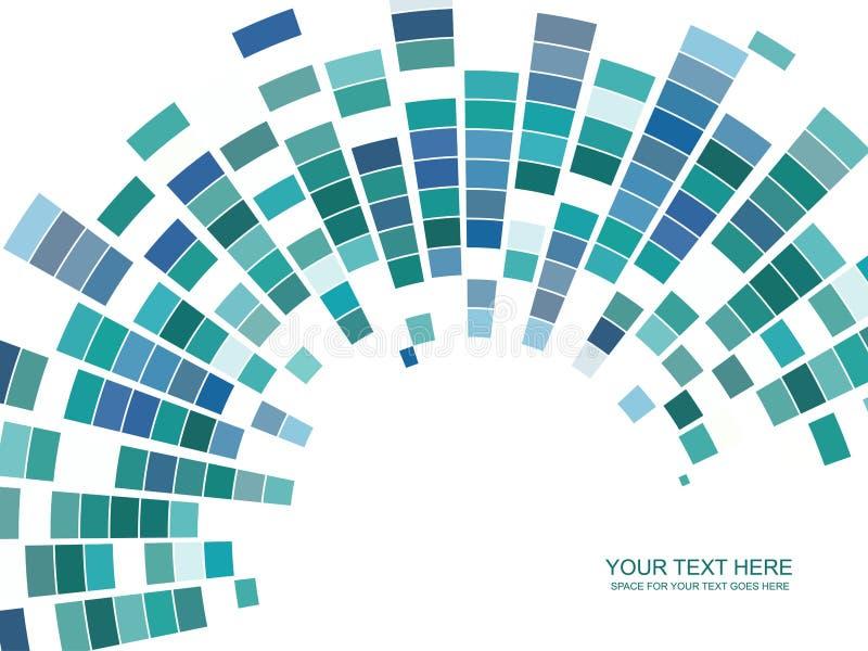 färgrik mosaikvektor vektor illustrationer