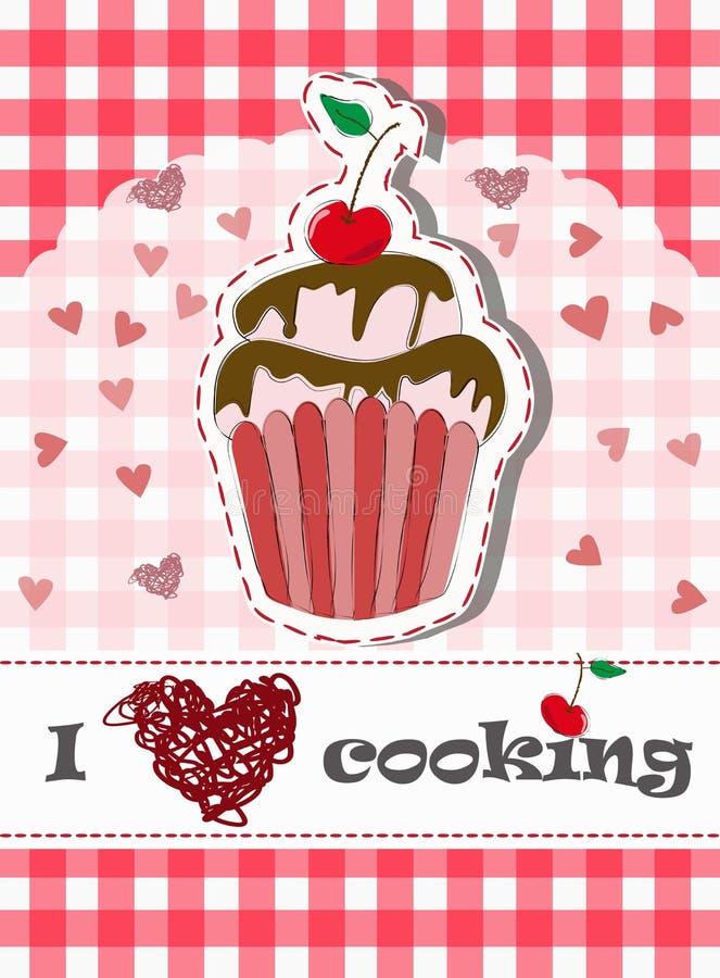 färgrik muffin royaltyfri illustrationer