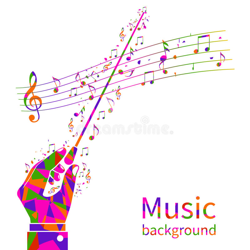 färgrik musik för bakgrund stock illustrationer