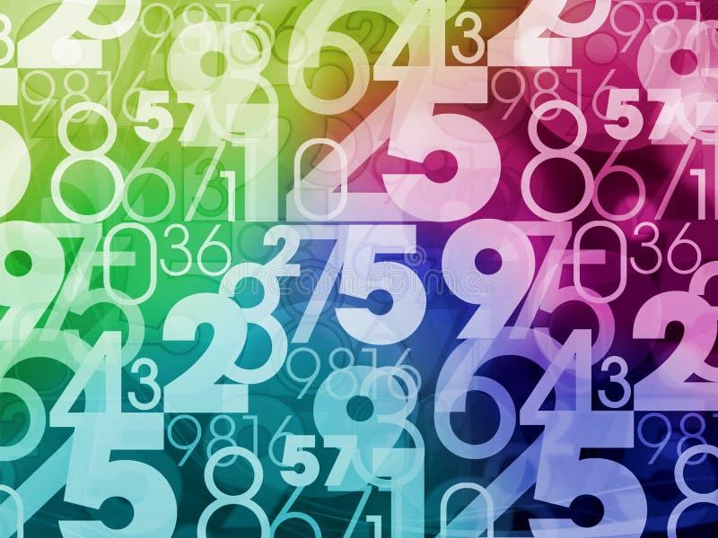 Färgrik nummerbakgrund vektor illustrationer
