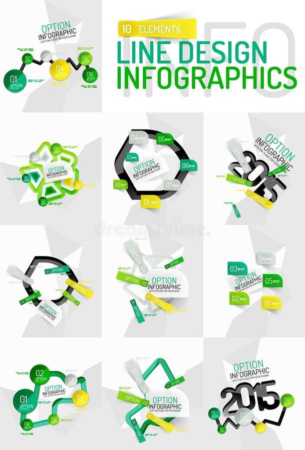 Färgrik ny klistermärkeinfographics royaltyfri illustrationer