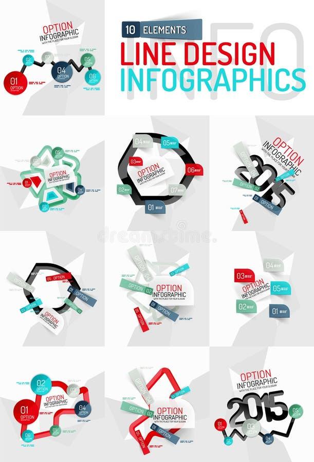 Färgrik ny klistermärkeinfographics vektor illustrationer