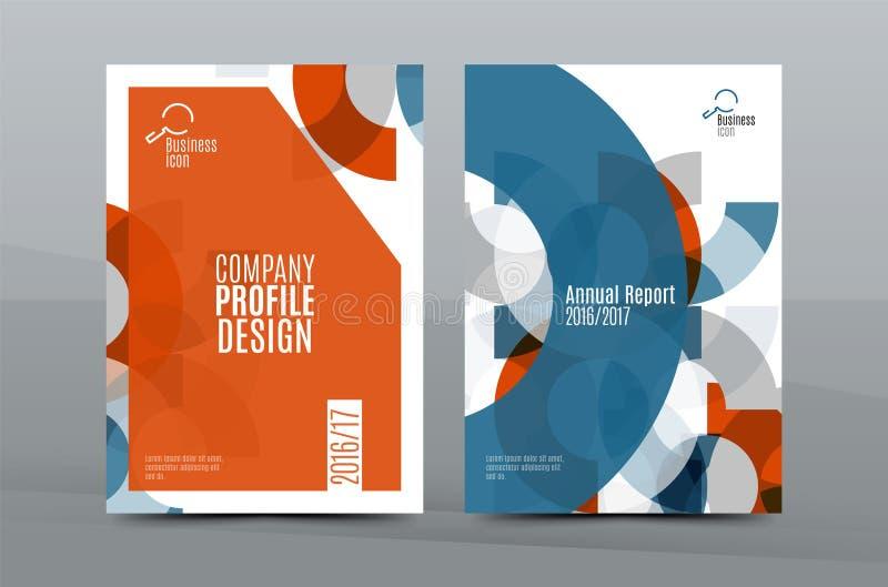 Färgrik ny räkningsmall för affär A4 - reklamblad, broschyr, boktidskrift och årsrapport vektor illustrationer