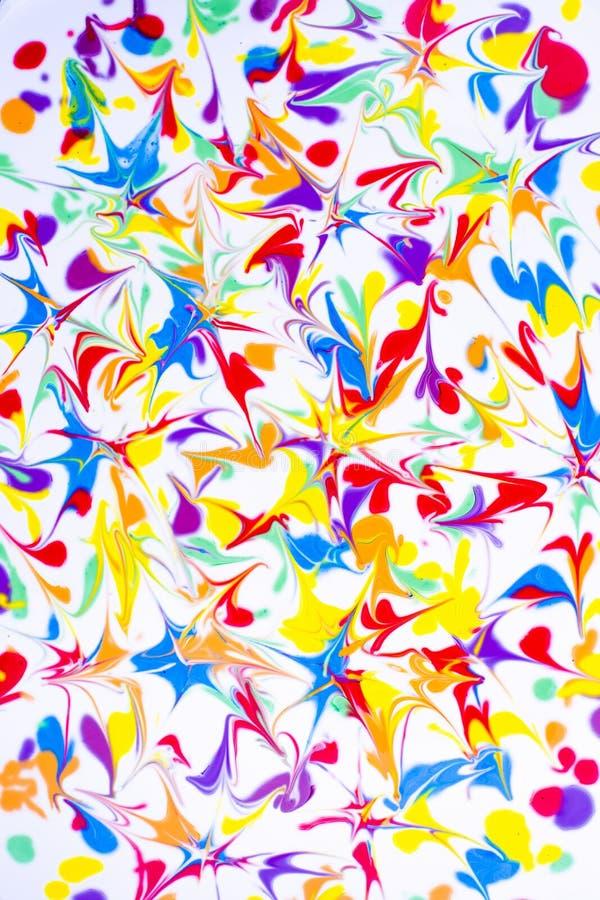 färgrik oljemålning arkivbilder