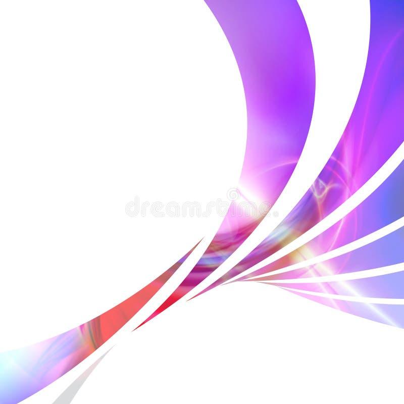 färgrik orienteringsswoosh stock illustrationer