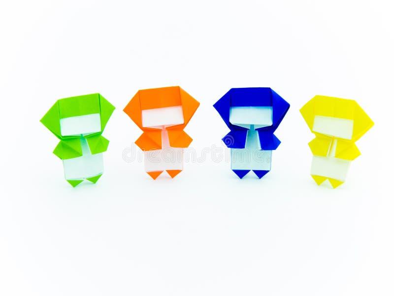 Färgrik origami Ninja royaltyfri bild