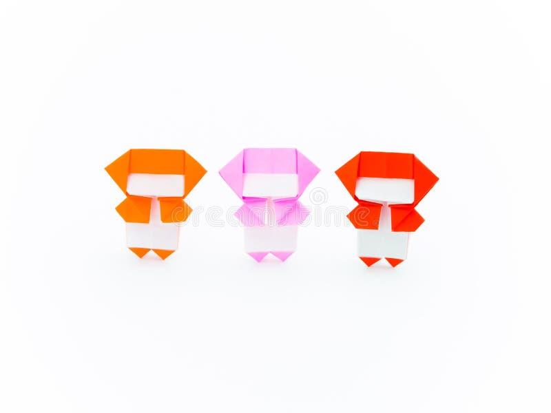 Färgrik origami Ninja royaltyfria foton