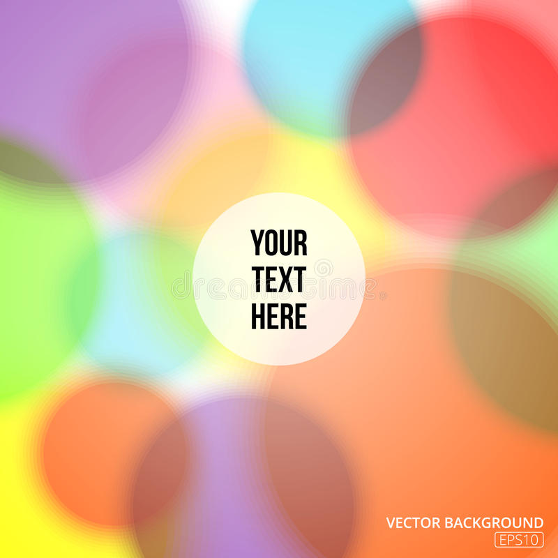 Färgrik oskarp abstrakt bakgrund med cirklar av ljus royaltyfria foton