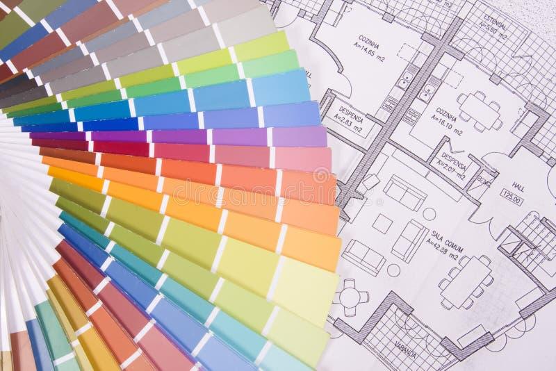 färgrik over palett för ritning royaltyfri fotografi