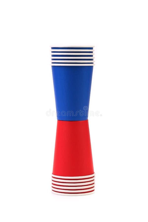 Färgrik Pappers- Kaffekopp. Fotografering för Bildbyråer