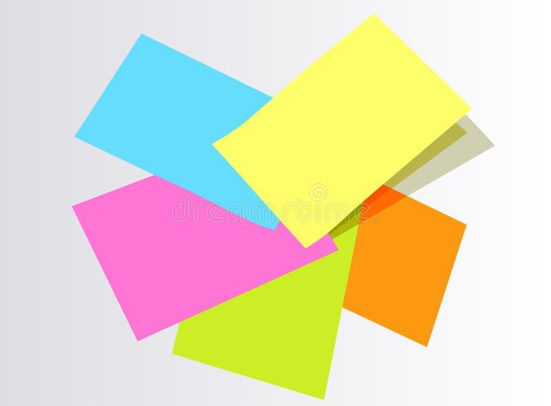 färgrik pappersstolpe vektor illustrationer