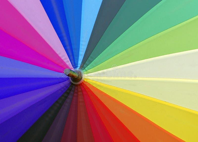 Färgrik paraplysikt arkivfoto