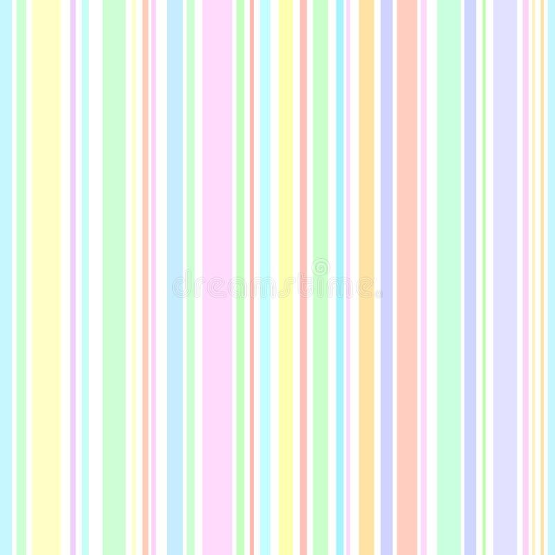 Färgrik pastellfärgad sömlös modellvektor för vertikala band stock illustrationer