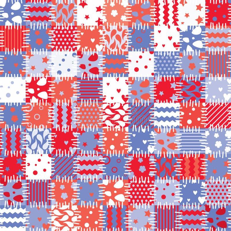 Download Färgrik patchwork vektor illustrationer. Illustration av rött - 19788619