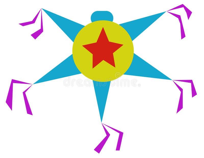Färgrik piñata fotografering för bildbyråer