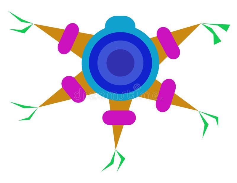 Färgrik piñata arkivbilder