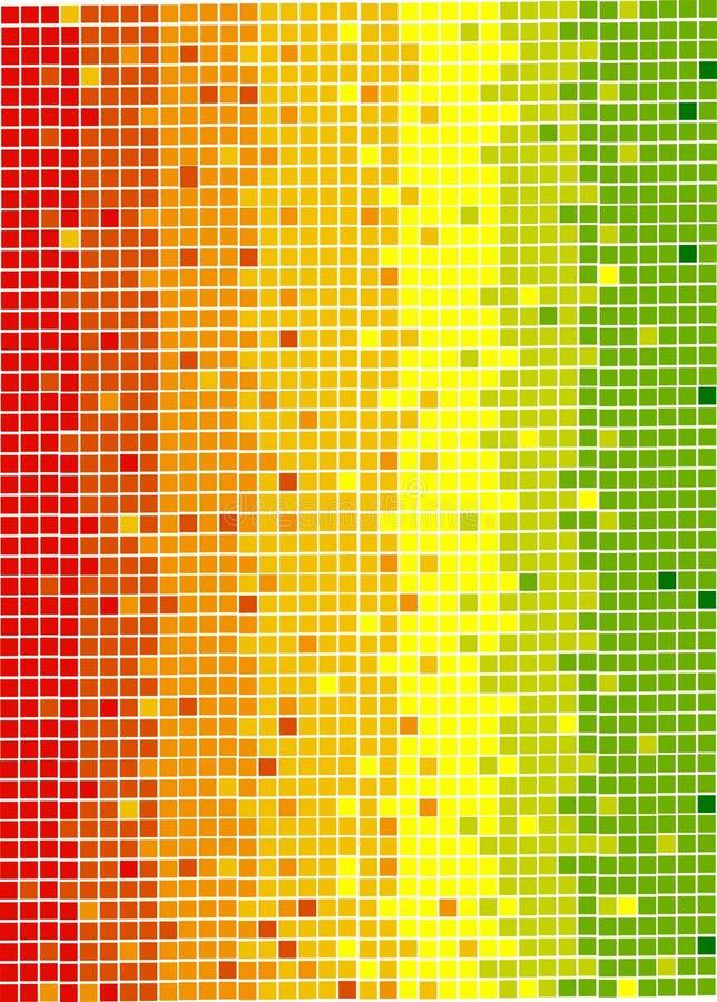färgrik PIXELtextur stock illustrationer