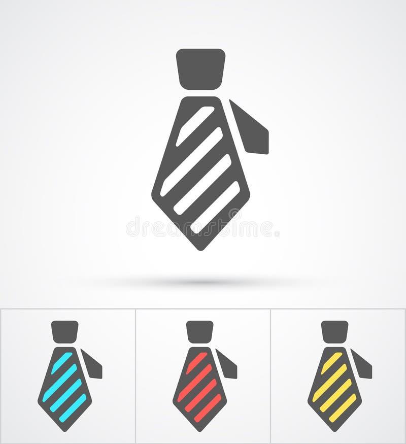 F?rgrik plan moderiktig symbol f?r slips vektor royaltyfri illustrationer