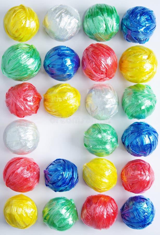 Färgrik Plastic repboll royaltyfri fotografi