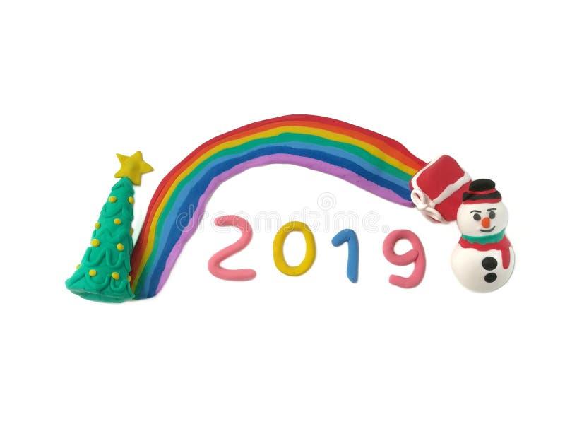 Färgrik plasticinelera, festivaldeg, härlig regnbåge, vinter 2019 royaltyfria bilder