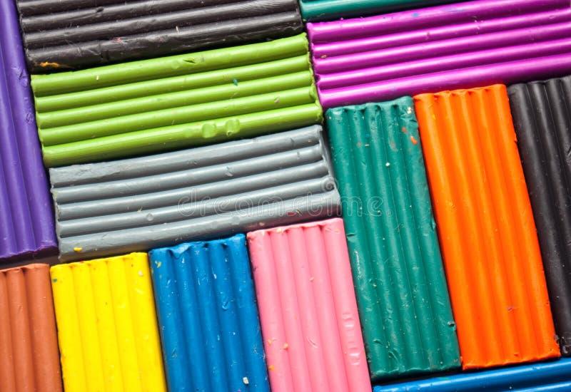 färgrik plasticineset arkivbilder
