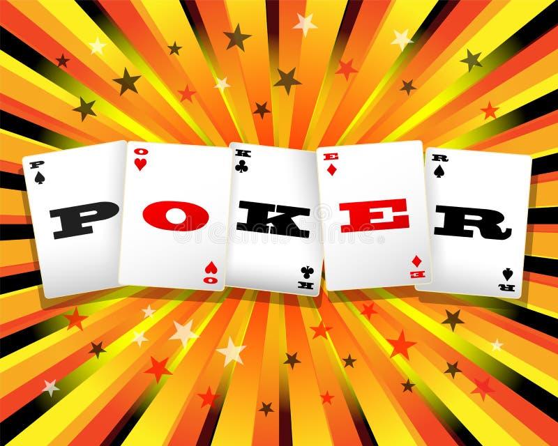 Färgrik pokerbakgrund royaltyfri illustrationer