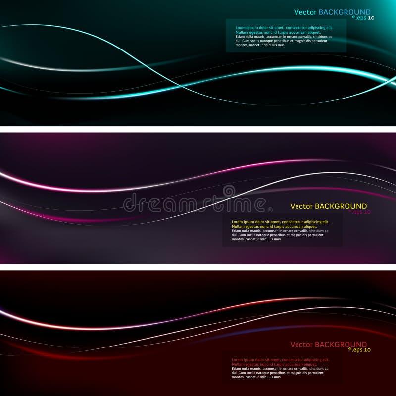 Färgrik presentationsbakgrund stock illustrationer