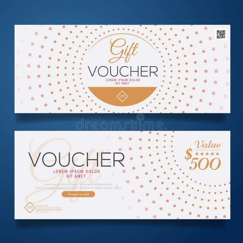 Färgrik presentkort, certifikatkupongdesign, vektorillustration royaltyfri illustrationer