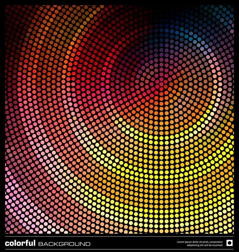 färgrik prickmosaik för bakgrund vektor illustrationer