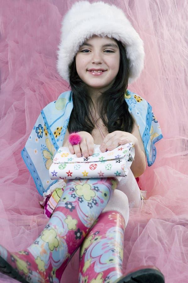färgrik princess royaltyfria bilder