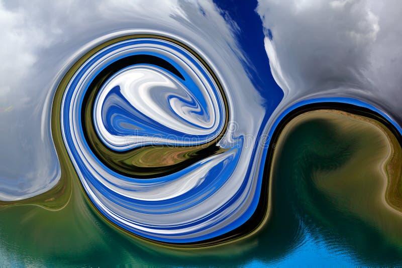 Färgrik psykedelisk smält bakgrund stock illustrationer