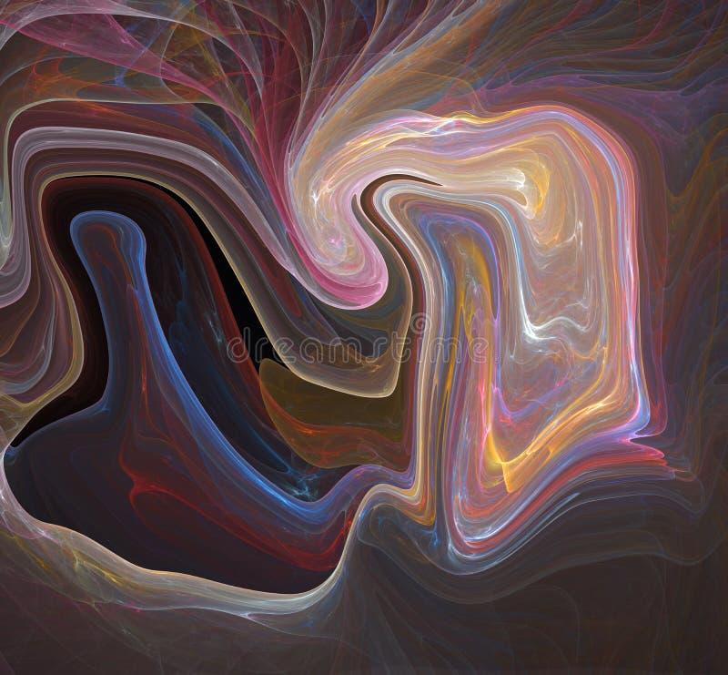 Färgrik psykedelisk smält bakgrund royaltyfri illustrationer