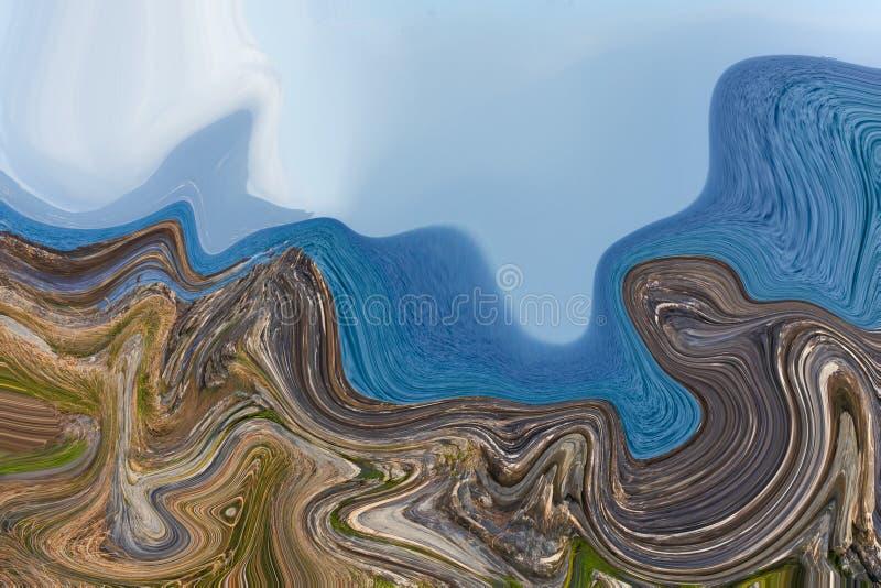 Färgrik psykedelisk smält bakgrund vektor illustrationer