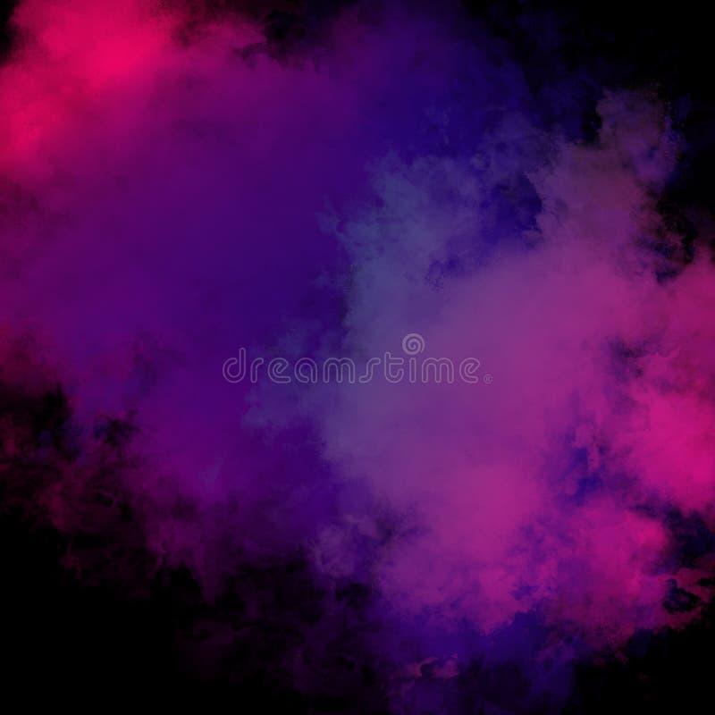 Färgrik pulverbakgrund, färgrika moln royaltyfria foton