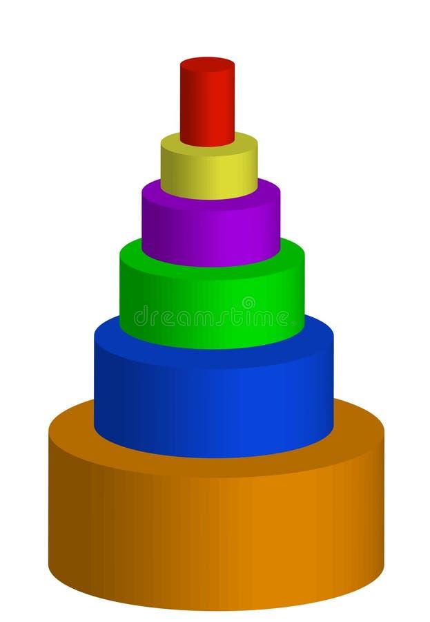 färgrik pyramid royaltyfri illustrationer