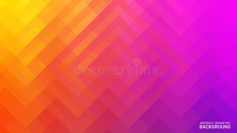 Färgrik räkning med triangeln Radiell vätska vektor Abstrakta geometriska former på ultraviolett lutningbakgrund royaltyfri illustrationer