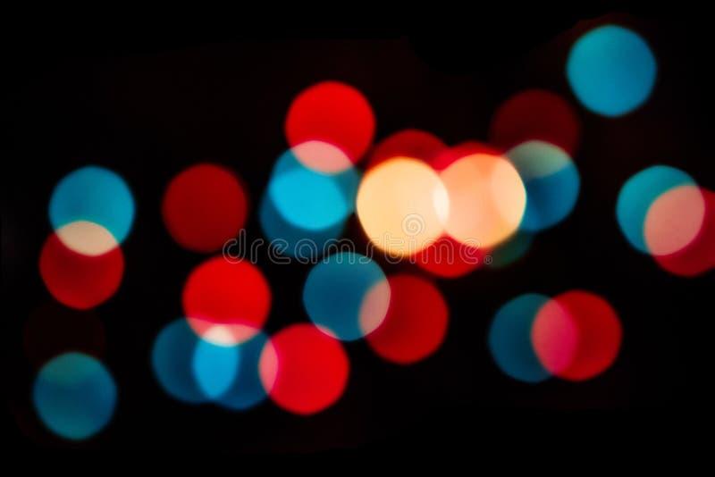 Färgrik röd och blå abstrakt bokeh royaltyfri bild