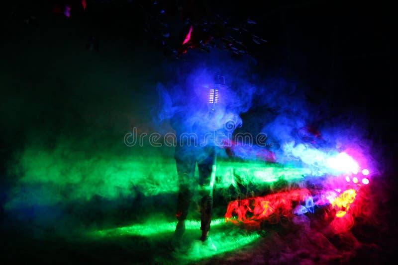 färgrik rök fotografering för bildbyråer