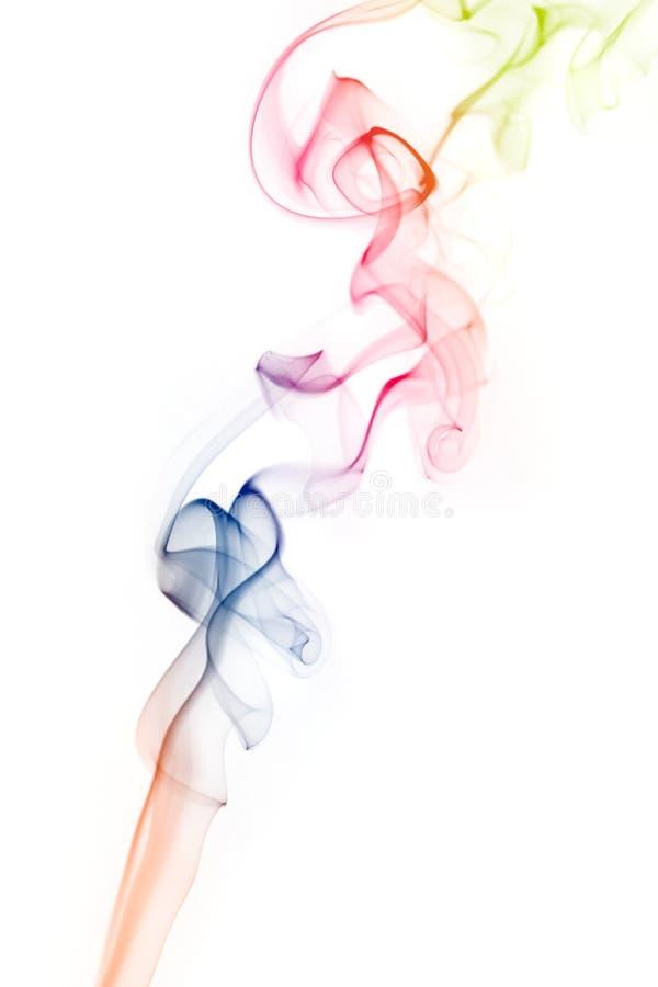 färgrik rök royaltyfri bild
