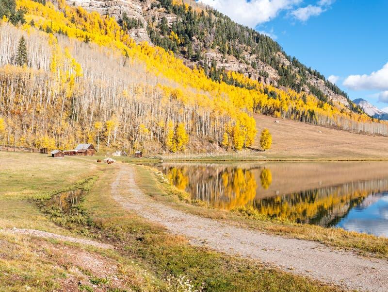 Färgrik ranch, västra Colorado royaltyfri foto